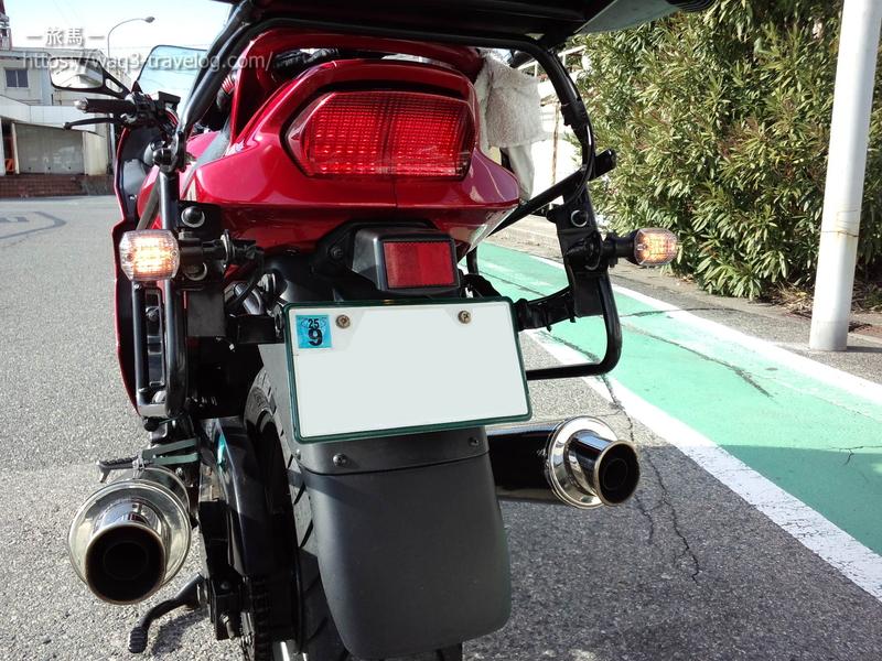 ロングフェンダーを装着したGPZ1100