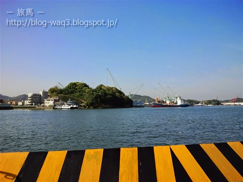 向島への渡船にて