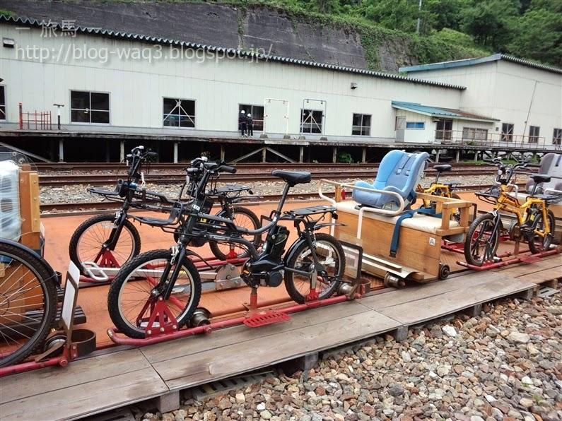 今回和休の家族がお借りしたレールマウンテンバイク。