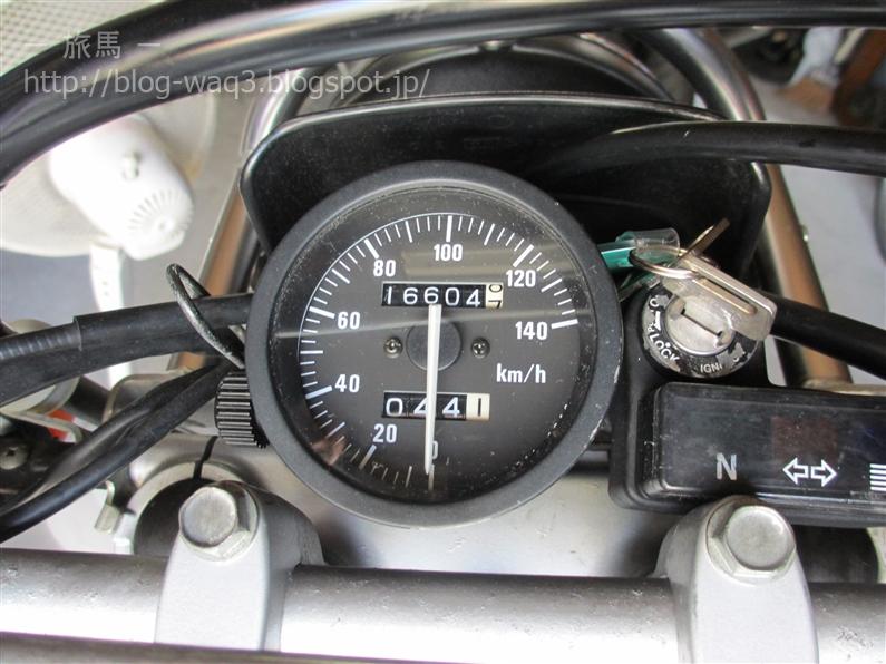 ジェベル200のスピードメーター