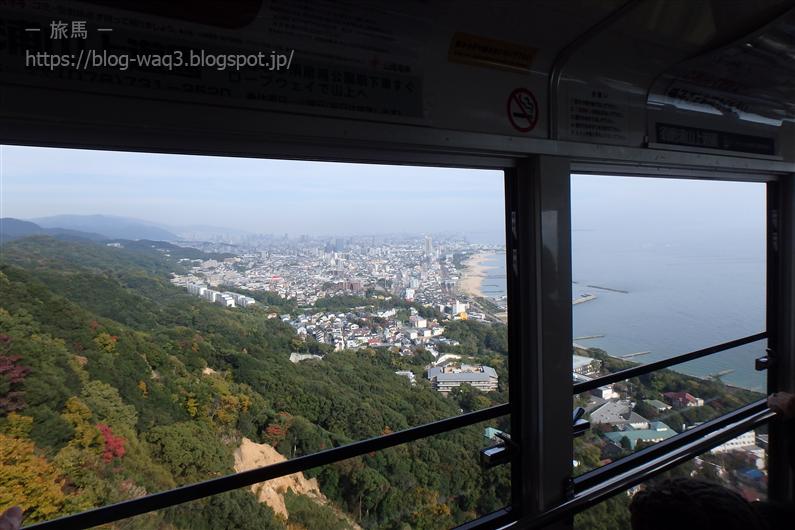 須磨浦公園ロープウェイからの眺め