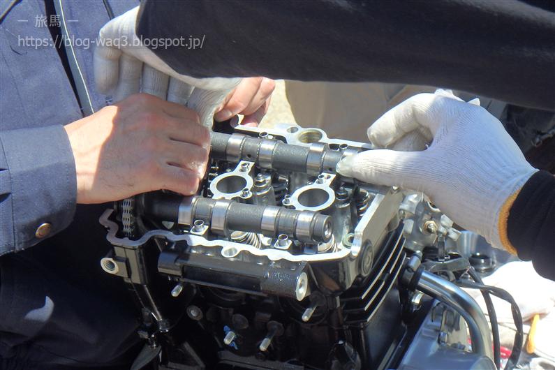 Ninja250のエンジンを分解