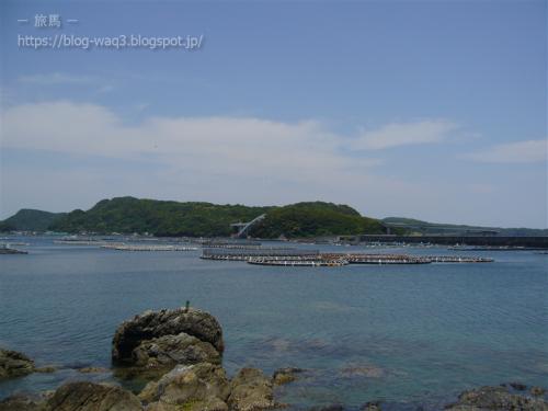潮岬への最終アプローチから紀伊大島を眺める。