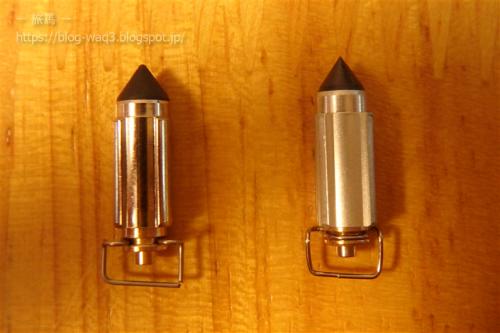 ニードルバルブです。左がキースター製、右が純正です。