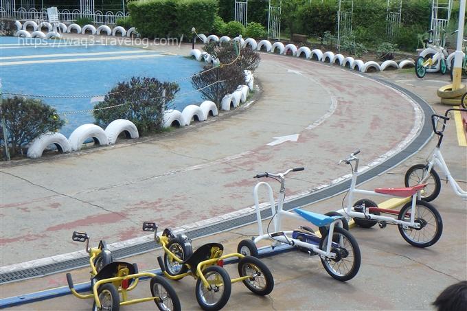 稲野公園の自転車コース