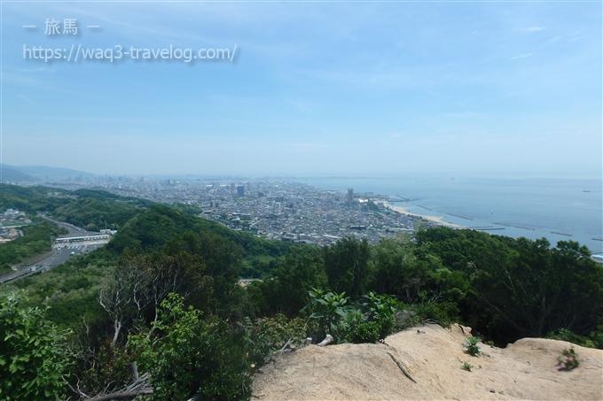 鉄拐山山頂からの眺め