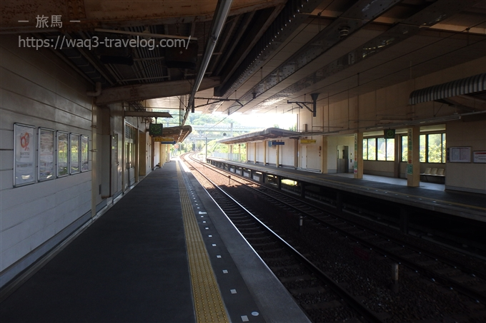 神戸電鉄木津駅にて