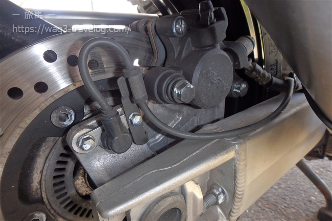 Bandit1250Sリアブレーキ整備