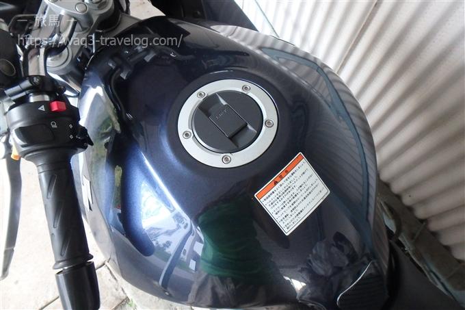 Bandit1250Sの給油口