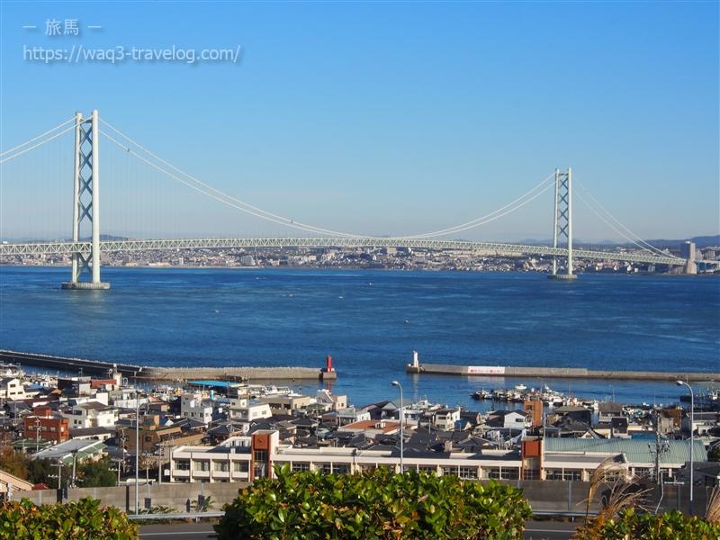 淡路SAから見た明石海峡大橋