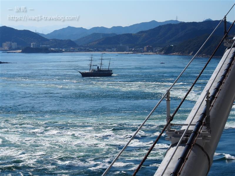 鳴門海峡と観覧船