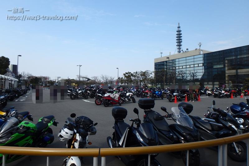 インテックス大阪のバイク駐車場