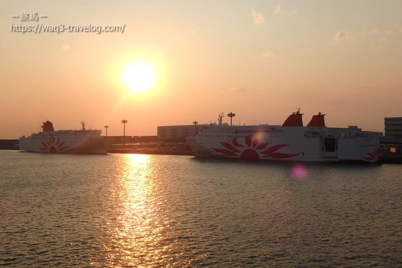 大阪南港にて さんふらわあこばると さんふらわあきりしま