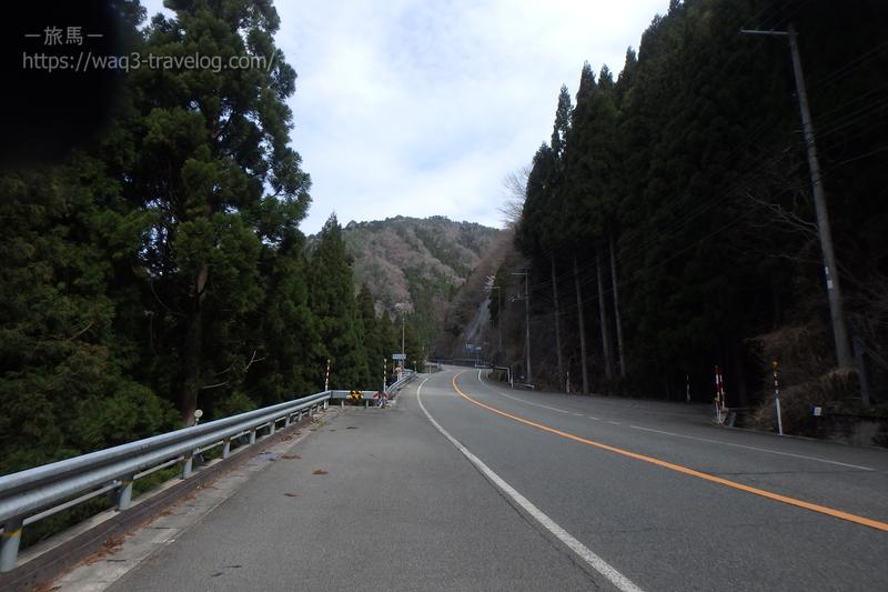 国道29号線 音水渓谷付近