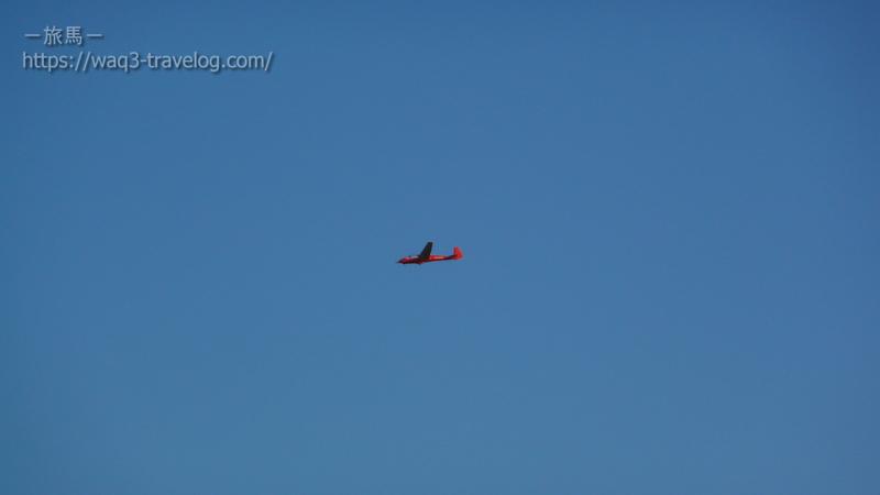 ビーナスラインにて・滑空するグライダー