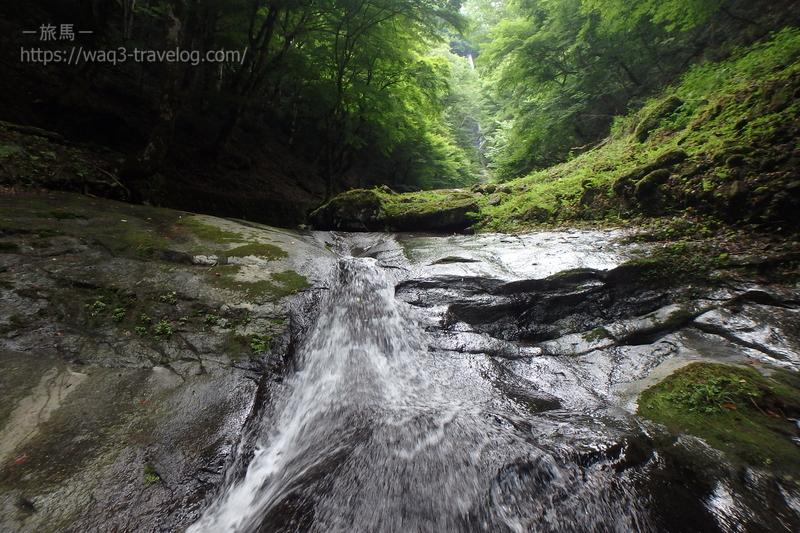 猿尾滝の天然スライダー