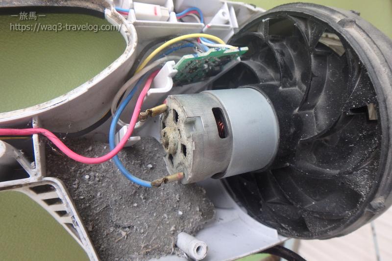 マキタ充電式クリーナー CL182FD モーター部分