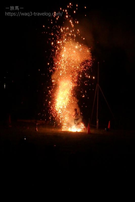 佐鳴湖花火大会の手筒花火