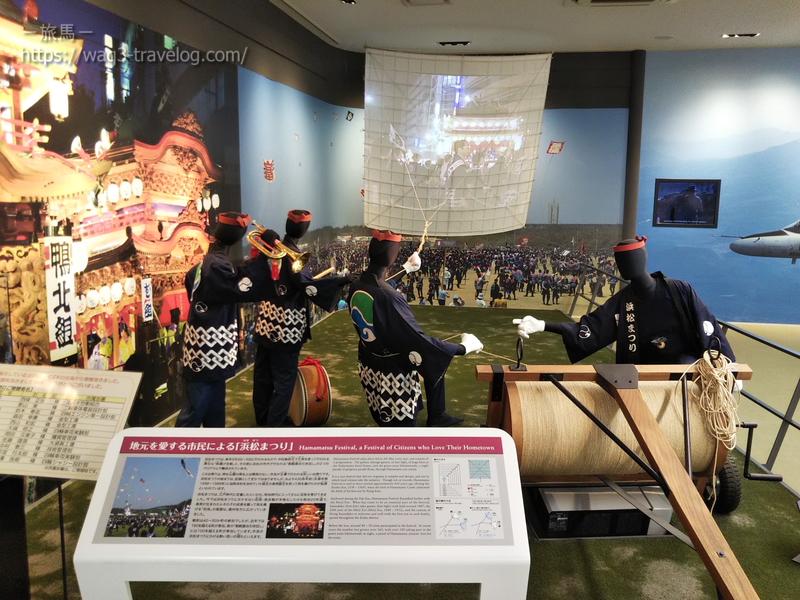 スズキ歴史館・「浜松まつり」のジオラマ