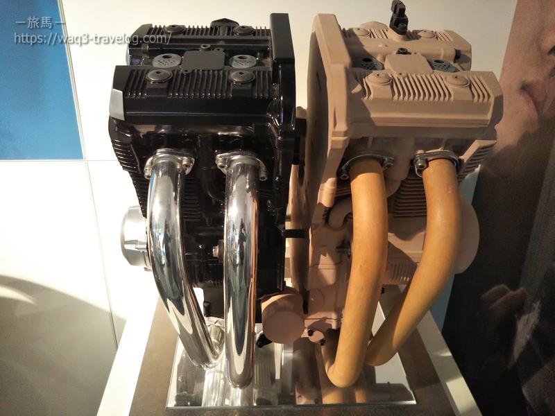 スズキ歴史館・GSX1400のエンジンのクレイモデル