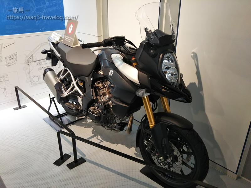 スズキ歴史館・V-Strom1000のカットモデル