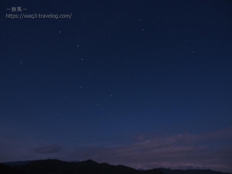 若杉高原おおやキャンプ場・星空ハイキング・北斗七星と北極星