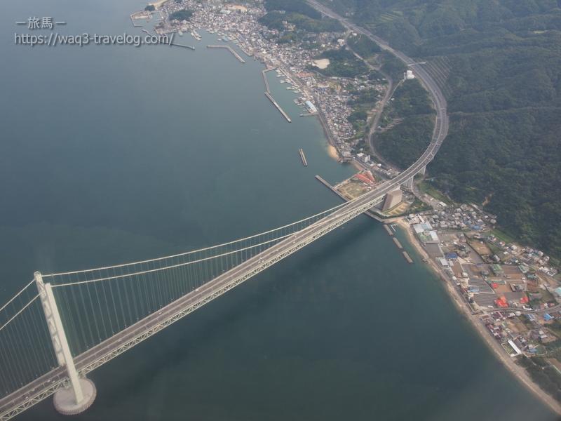 明石海峡大橋上空