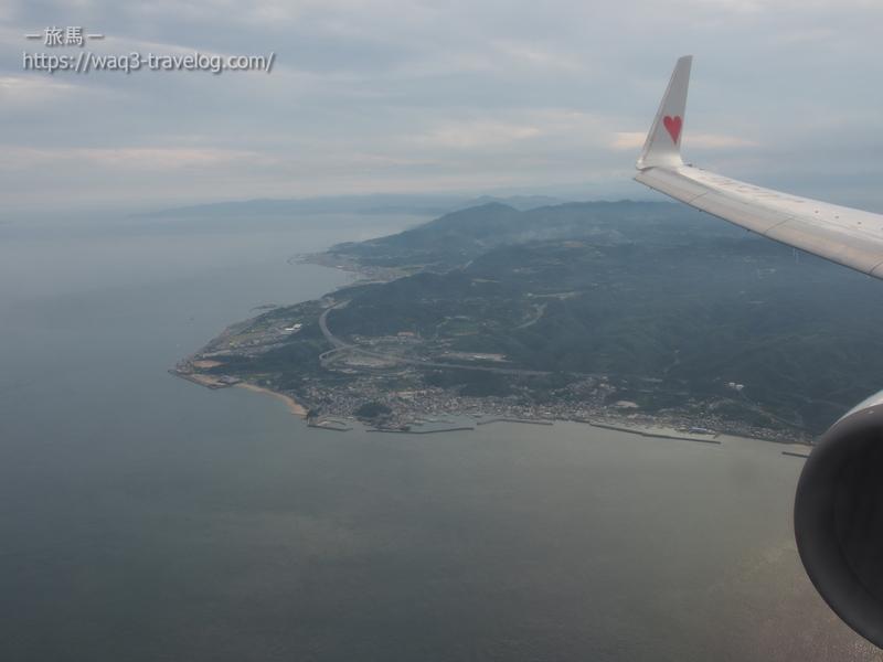淡路島上空