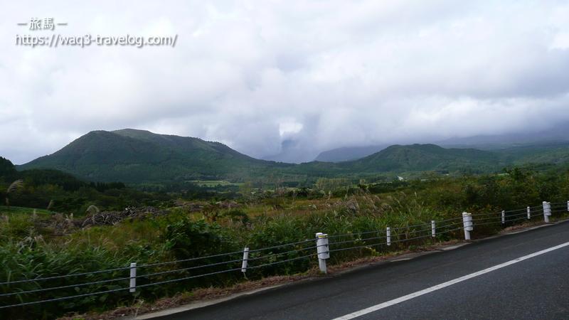 雨のベールに包まれた大山