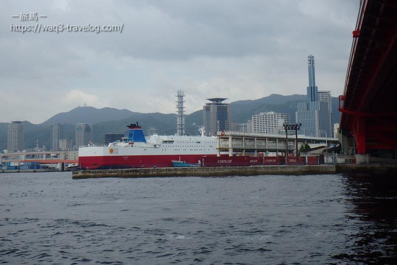 神戸港に停泊する宮崎フェリー