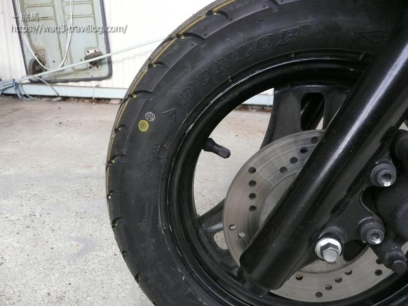 アドレスV125Gのフロントタイヤ