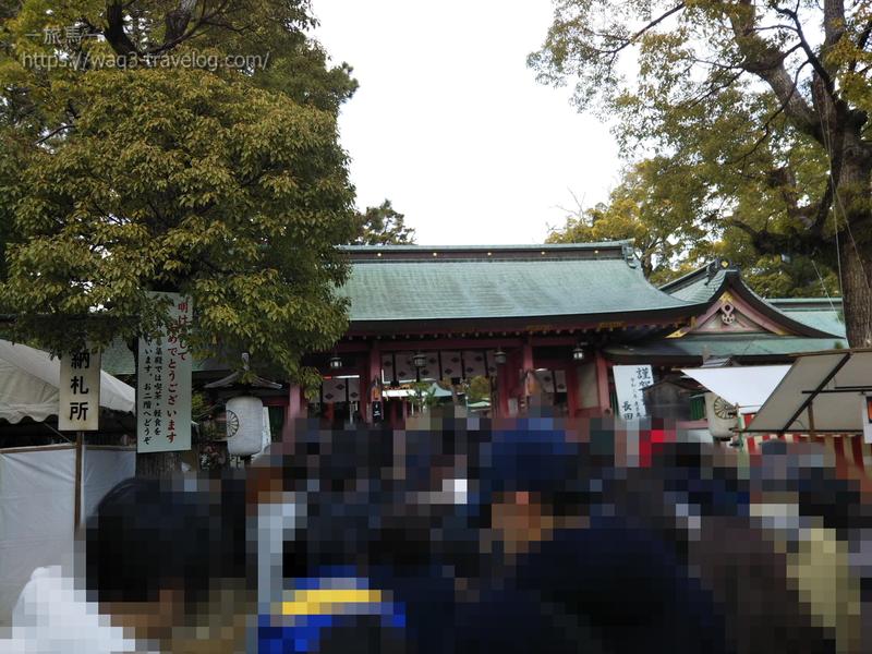 長田神社にて
