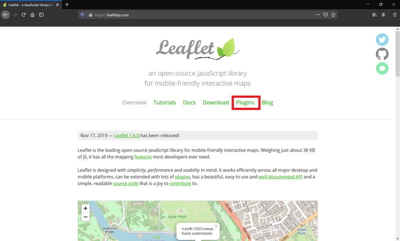 Leafletのホームページ