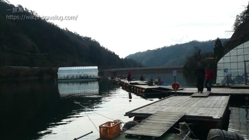 佐仲ダムの釣り場の風景