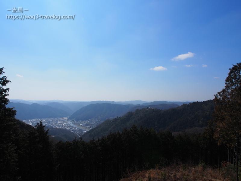 備中松山城展望台からの眺め
