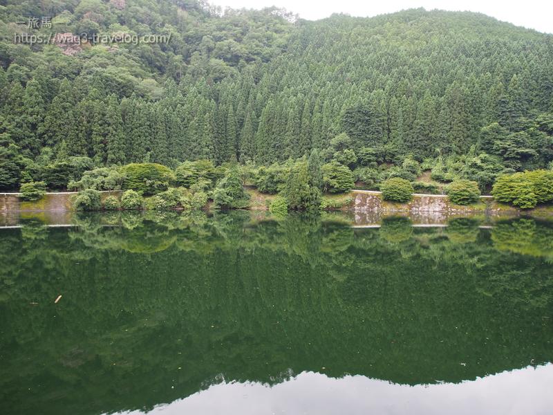 湖に映る景色