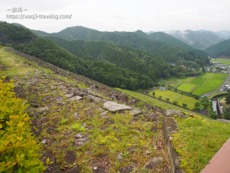 黒川ダム天端からの景色