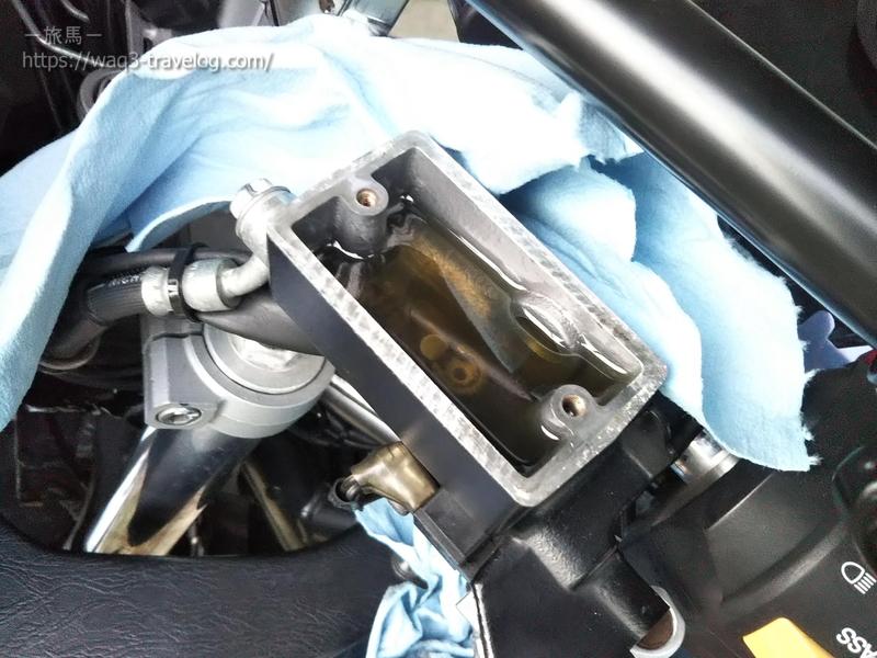 バンディット1250Sのフロントクラッチマスターシリンダー