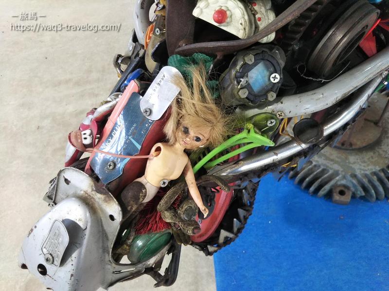 おもちゃが集まって作られた恐竜