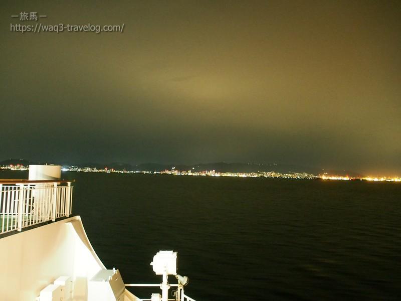 オレンジフェリー甲板からの眺め