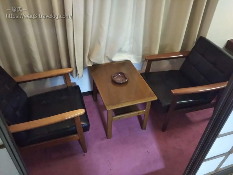 リバーサイドホテル松栄の客室の広縁