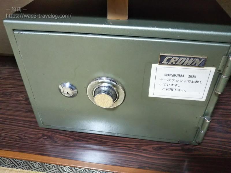 リバーサイドホテル松栄の客室の金庫