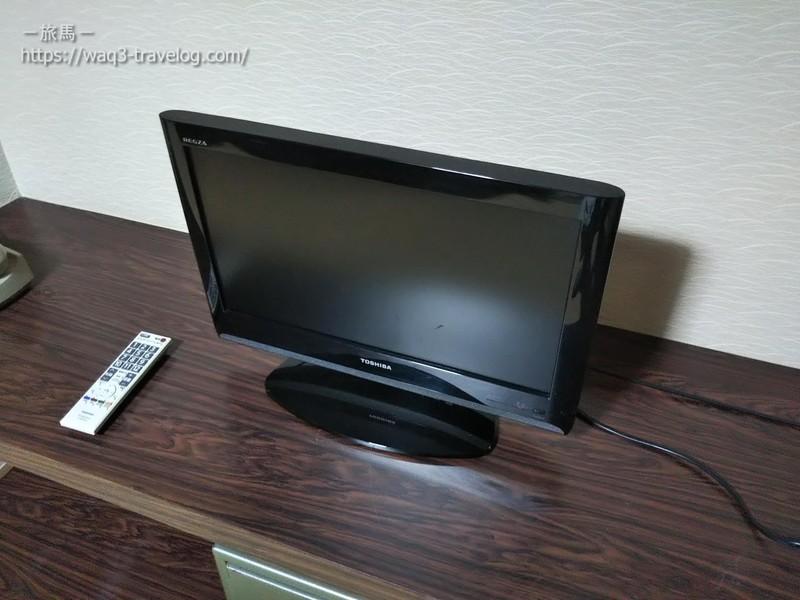 リバーサイドホテル松栄の客室のテレビ