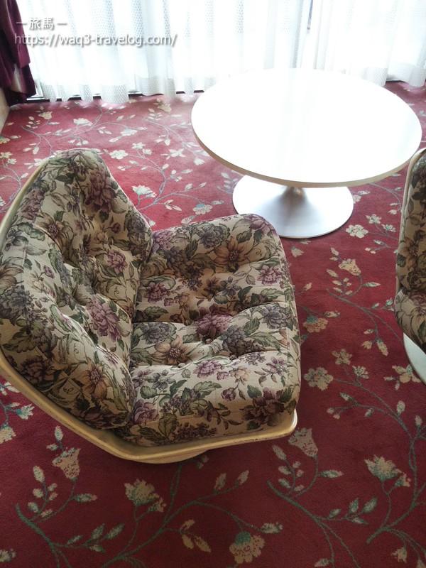 リバーサイドホテル松栄のロビーのソファー