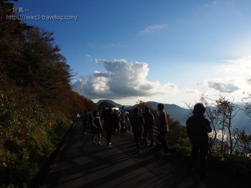 UFOラインの石鎚山展望所にて
