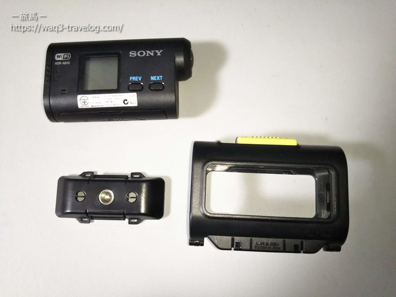 Sony HDR-AS15とスケルトンフレーム