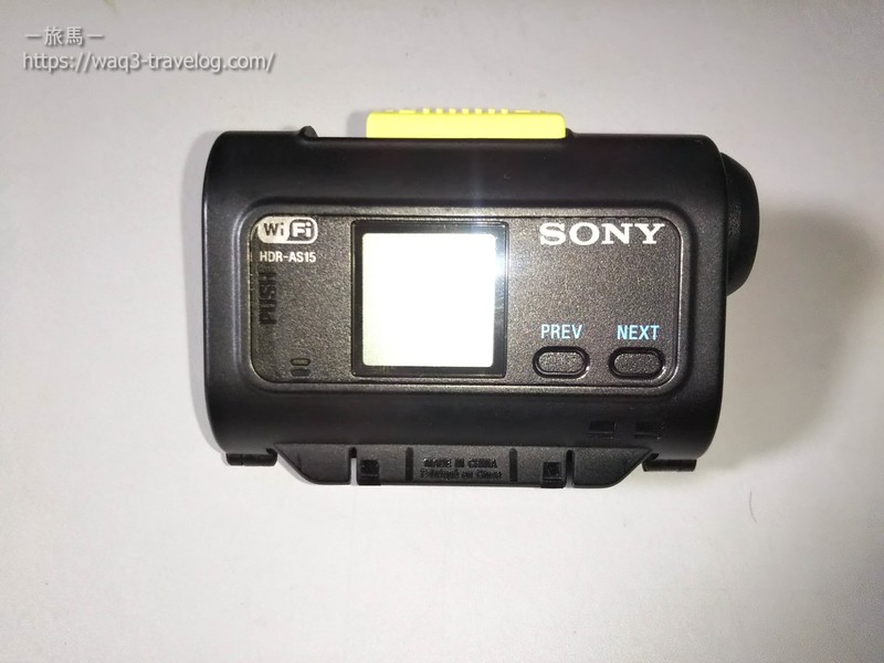 Sony HDR-AS15にスケルトンフレームを装着したところ