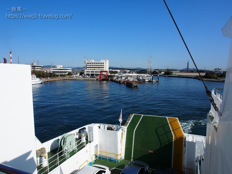 姫路港を出港