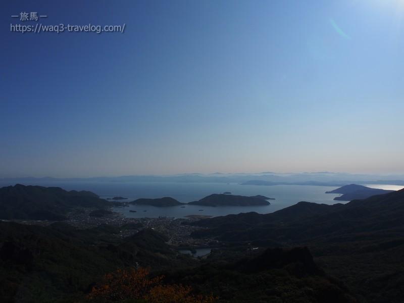 小豆島・寒霞渓瀬戸内海展望所からの眺め