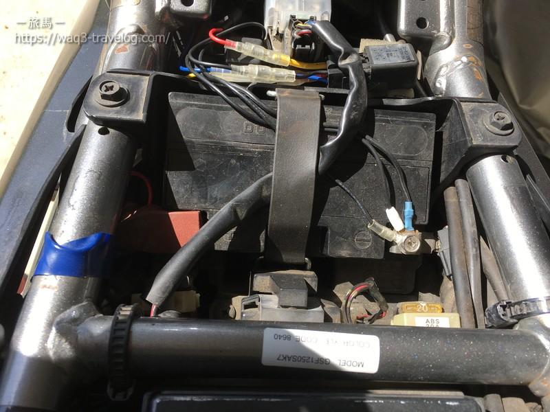 バンディット1250Sのバッテリー